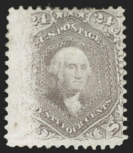 Sale Number 1195, Lot Number 144, 1861-66 Issue Stamps, cont.24c Brown Lilac (70a), 24c Brown Lilac (70a)