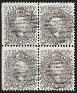 Sale Number 1195, Lot Number 145, 1861-66 Issue Stamps, cont.24c Brown Lilac (70a), 24c Brown Lilac (70a)