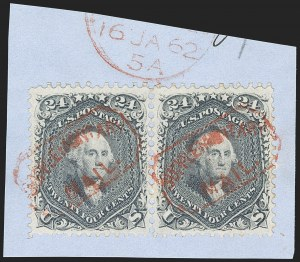 Sale Number 1195, Lot Number 147, 1861-66 Issue Stamps, cont.24c Steel Blue (70b), 24c Steel Blue (70b)