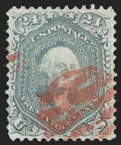 Sale Number 1195, Lot Number 149, 1861-66 Issue Stamps, cont.24c Steel Blue (70b), 24c Steel Blue (70b)