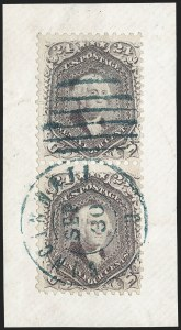 Sale Number 1195, Lot Number 151, 1861-66 Issue Stamps, cont.24c Violet, Thin Paper (70c), 24c Violet, Thin Paper (70c)