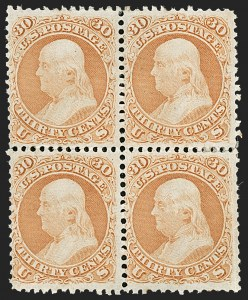 Sale Number 1195, Lot Number 152, 1861-66 Issue Stamps, cont.30c Orange (71), 30c Orange (71)