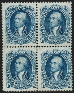 Sale Number 1195, Lot Number 155, 1861-66 Issue Stamps, cont.90c Blue (72), 90c Blue (72)