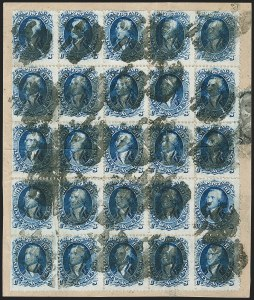 Sale Number 1195, Lot Number 156, 1861-66 Issue Stamps, cont.90c Blue (72), 90c Blue (72)