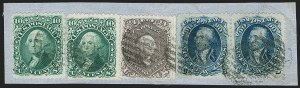Sale Number 1195, Lot Number 158, 1861-66 Issue Stamps, cont.90c Blue (72), 90c Blue (72)