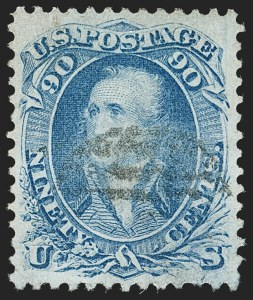 Sale Number 1195, Lot Number 159, 1861-66 Issue Stamps, cont.90c Pale Blue (72a), 90c Pale Blue (72a)