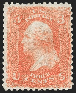 Sale Number 1195, Lot Number 161, 1861-66 Issue Stamps, cont.3c Scarlet (74), 3c Scarlet (74)
