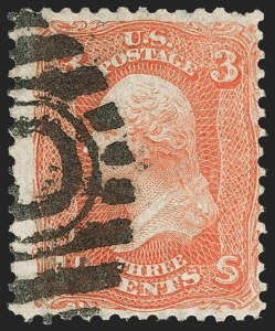 Sale Number 1195, Lot Number 162, 1861-66 Issue Stamps, cont.3c Scarlet (74), 3c Scarlet (74)