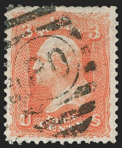 Sale Number 1195, Lot Number 163, 1861-66 Issue Stamps, cont.3c Scarlet (74), 3c Scarlet (74)