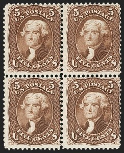 Sale Number 1195, Lot Number 167, 1861-66 Issue Stamps, cont.5c Red Brown (75), 5c Red Brown (75)