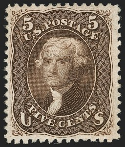 Sale Number 1195, Lot Number 169, 1861-66 Issue Stamps, cont.5c Brown (76), 5c Brown (76)