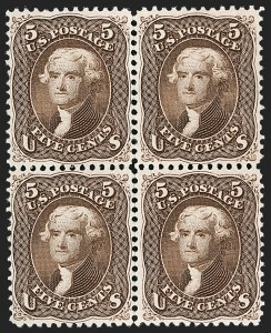 Sale Number 1195, Lot Number 171, 1861-66 Issue Stamps, cont.5c Brown (76), 5c Brown (76)