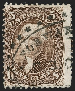 Sale Number 1195, Lot Number 172, 1861-66 Issue Stamps, cont.5c Brown (76), 5c Brown (76)