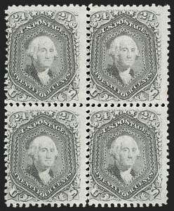Sale Number 1195, Lot Number 176, 1861-66 Issue Stamps, cont.24c Grayish Lilac (78a), 24c Grayish Lilac (78a)