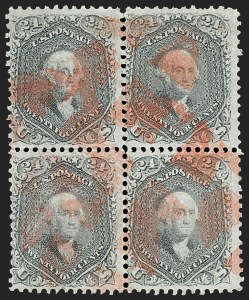 Sale Number 1195, Lot Number 177, 1861-66 Issue Stamps, cont.24c Grayish Lilac (78a), 24c Grayish Lilac (78a)