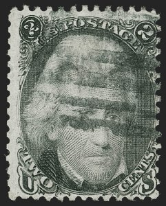 Sale Number 1195, Lot Number 181, 1861-66 Issue Stamps, cont.2c Black, Atherton Shift (73 var), 2c Black, Atherton Shift (73 var)