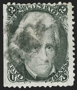Sale Number 1195, Lot Number 183, 1861-66 Issue Stamps, cont.2c Black, Preston Shift (73 var), 2c Black, Preston Shift (73 var)