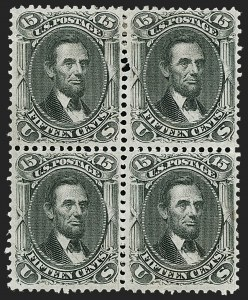 Sale Number 1195, Lot Number 184, 1861-66 Issue Stamps, cont.15c Black (77), 15c Black (77)
