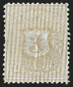 Sale Number 1195, Lot Number 267, Essays for Re-Use Prevention: Experimental Grills and OthersNational Bank Note Co., 3c Shield Die Essays (79-E28), National Bank Note Co., 3c Shield Die Essays (79-E28)