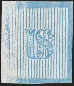 "Sale Number 1195, Lot Number 271, Essays for Re-Use Prevention: Experimental Grills and OthersNational Bank Note Co., 3c Light Blue, Albino, ""US"" Underprinted Design Only on Thin White Wove (79-E28g), National Bank Note Co., 3c Light Blue, Albino, ""US"" Underprinted Design Only on Thin White Wove (79-E28g)"