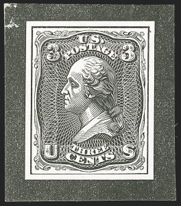 Sale Number 1195, Lot Number 276, Essays for Re-Use Prevention: Experimental Grills and OthersNational Bank Note Co., 3c Washington, Plate Essays on White Wove, Imperforate and Gummed (79-E23i), National Bank Note Co., 3c Washington, Plate Essays on White Wove, Imperforate and Gummed (79-E23i)