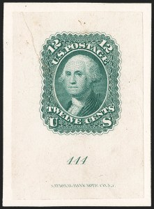 Sale Number 1195, Lot Number 29, 1861 Contract Essays: 12-Cent National Bank Note Co., 12c Green, First Design, Die Essay on India (69-E6a; formerly 59TC1), National Bank Note Co., 12c Green, First Design, Die Essay on India (69-E6a; formerly 59TC1)