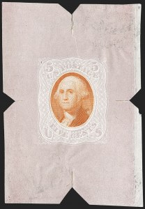 Sale Number 1195, Lot Number 302, Essays for Re-Use Prevention: Bi-Colored EssaysNational Bank Note Co., 5c Violet & Orange, Untrimmed Die Essay on Thin White Paper (79-E35a), National Bank Note Co., 5c Violet & Orange, Untrimmed Die Essay on Thin White Paper (79-E35a)