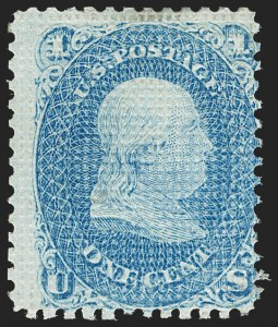 Sale Number 1195, Lot Number 308, 1867-68 Grilled Issue: A Grill1c Blue, A. Grill, All-Over Grill Essay with Points Up (unlisted in Scott), 1c Blue, A. Grill, All-Over Grill Essay with Points Up (unlisted in Scott)