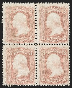 Sale Number 1195, Lot Number 309, 1867-68 Grilled Issue: A Grill3c Rose, A. Grill (79), 3c Rose, A. Grill (79)