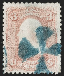Sale Number 1195, Lot Number 311, 1867-68 Grilled Issue: A Grill3c Rose, A. Grill (79), 3c Rose, A. Grill (79)