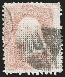 Sale Number 1195, Lot Number 312, 1867-68 Grilled Issue: A Grill3c Rose, A. Grill (79), 3c Rose, A. Grill (79)