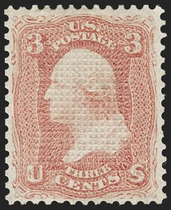 Sale Number 1195, Lot Number 319, 1867-68 Grilled Issue: C Grill3c Rose, C. Grill, Points Down (83 var, 79-E15j), 3c Rose, C. Grill, Points Down (83 var, 79-E15j)