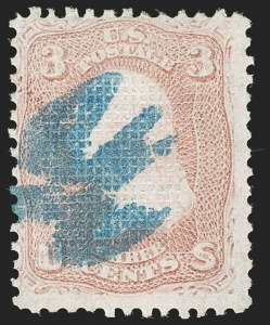 Sale Number 1195, Lot Number 330, 1867-68 Grilled Issue: C Grill3c Rose, C. Grill (83), 3c Rose, C. Grill (83)