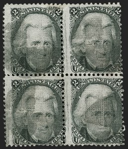 Sale Number 1195, Lot Number 340, 1867-68 Grilled Issue: D Grill2c Black, D. Grill (84), 2c Black, D. Grill (84)