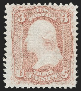 Sale Number 1195, Lot Number 342, 1867-68 Grilled Issue: D Grill3c Rose, D. Grill (85), 3c Rose, D. Grill (85)