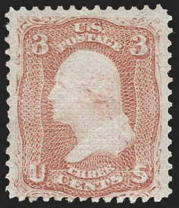 Sale Number 1195, Lot Number 355, 1867-68 Grilled Issue: Z Grill3c Rose, Z. Grill (85C), 3c Rose, Z. Grill (85C)