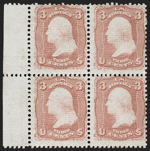 Sale Number 1195, Lot Number 357, 1867-68 Grilled Issue: Z Grill3c Rose, Z. Grill (85C), 3c Rose, Z. Grill (85C)