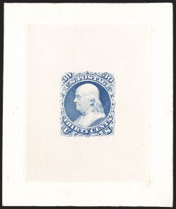 Sale Number 1195, Lot Number 38, 1861 Contract Essays: 30-Cent National Bank Note Co., 30c Dull Gray Blue, First Design, Large Die Essay on India (71-E2a), National Bank Note Co., 30c Dull Gray Blue, First Design, Large Die Essay on India (71-E2a)