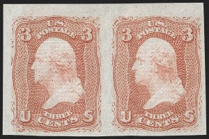Sale Number 1195, Lot Number 388, 1867-68 Grilled Issue: F Grill3c Red, F. Grill, Imperforate (94b), 3c Red, F. Grill, Imperforate (94b)