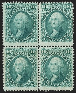 Sale Number 1195, Lot Number 391, 1867-68 Grilled Issue: F Grill10c Yellow Green, F. Grill (96), 10c Yellow Green, F. Grill (96)