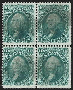 Sale Number 1195, Lot Number 392, 1867-68 Grilled Issue: F Grill10c Yellow Green, F. Grill (96), 10c Yellow Green, F. Grill (96)