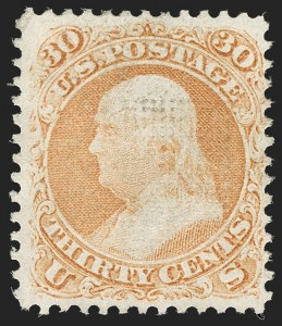 Sale Number 1195, Lot Number 401, 1867-68 Grilled Issue: F Grill30c Orange, F. Grill (100), 30c Orange, F. Grill (100)