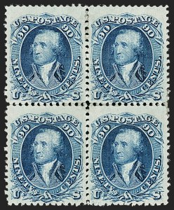 Sale Number 1195, Lot Number 406, 1867-68 Grilled Issue: F Grill90c Blue, F. Grill (101), 90c Blue, F. Grill (101)