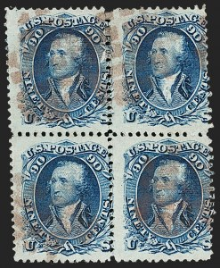 Sale Number 1195, Lot Number 409, 1867-68 Grilled Issue: F Grill90c Blue, F. Grill (101), 90c Blue, F. Grill (101)