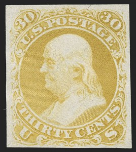 Sale Number 1195, Lot Number 41, 1861 Contract Essays: 30-Cent National Bank Note Co., 30c First Design, Plate Essay on Semi-Transparent Stamp Paper (71-E2e), National Bank Note Co., 30c First Design, Plate Essay on Semi-Transparent Stamp Paper (71-E2e)