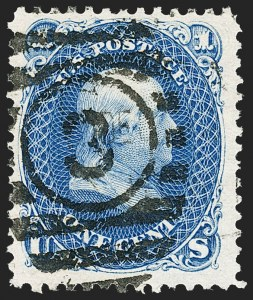 Sale Number 1195, Lot Number 411, 1875 Re-Issue of 1861-66 Issue1c Blue, Re-Issue (102), 1c Blue, Re-Issue (102)