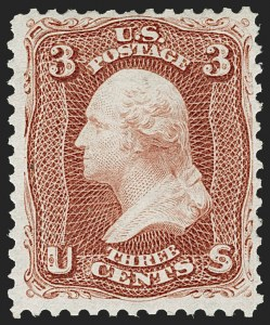 Sale Number 1195, Lot Number 413, 1875 Re-Issue of 1861-66 Issue3c Brown Red, Re-Issue (104), 3c Brown Red, Re-Issue (104)