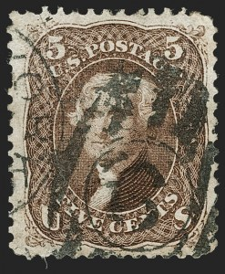 Sale Number 1195, Lot Number 415, 1875 Re-Issue of 1861-66 Issue5c Brown, Re-Issue (105), 5c Brown, Re-Issue (105)