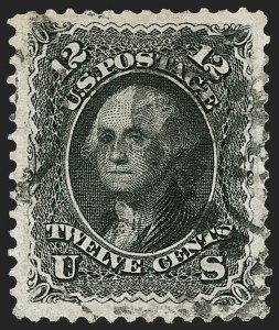Sale Number 1195, Lot Number 417, 1875 Re-Issue of 1861-66 Issue12c Black, Re-Issue (107), 12c Black, Re-Issue (107)