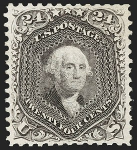 Sale Number 1195, Lot Number 419, 1875 Re-Issue of 1861-66 Issue24c Deep Violet, Re-Issue (109), 24c Deep Violet, Re-Issue (109)